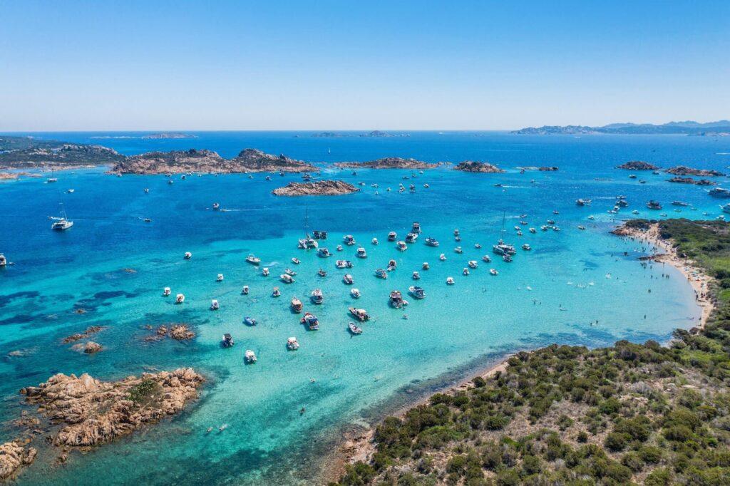 Sardinia boats in Italy