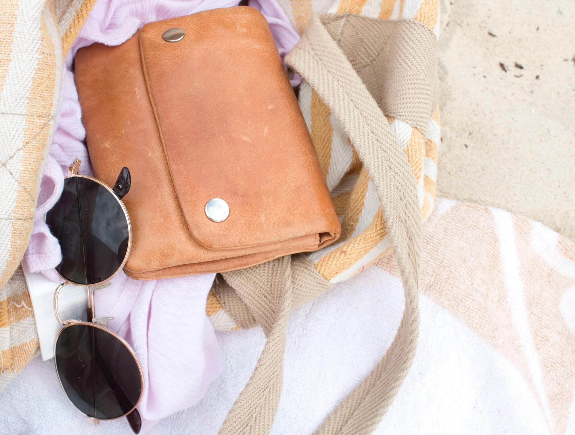 Wallet on the Beach