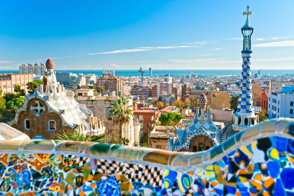 Architecture of Park Guell, Barcelona